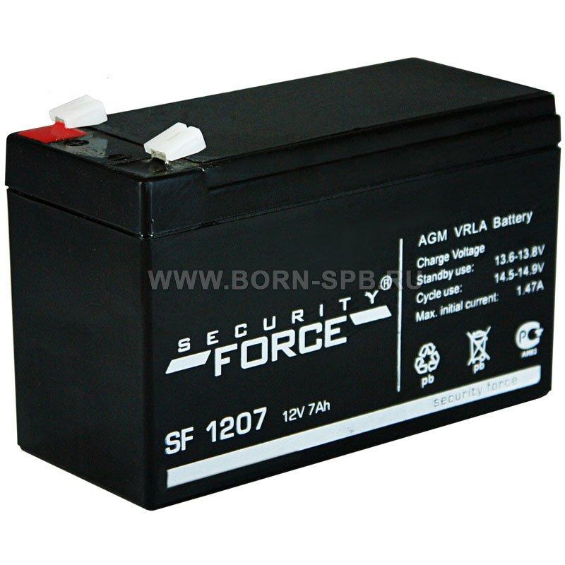 Аккумулятор Security Force SF 1207 - купить, цена, отзывы, характеристики