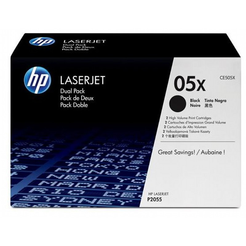 Тонер-картридж HP CE505XD 05X Dual Pack Black